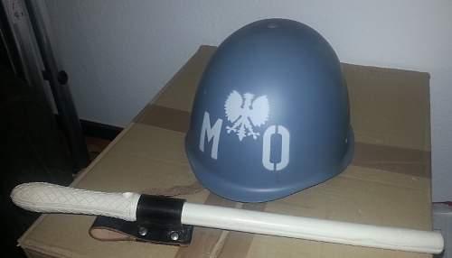 Helmet of the Milicja Obywatelska