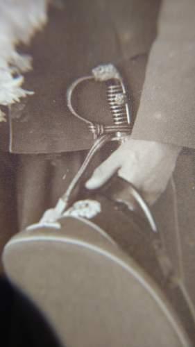 Lionhead Sword in wear photo