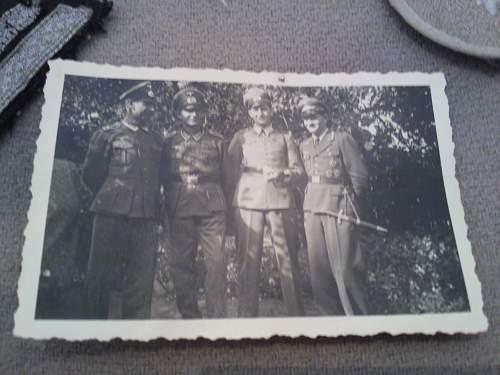Original photos showing daggers/swords in wear.