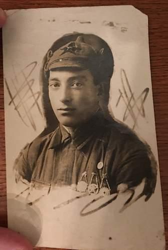 Portrait of an 1920s era soviet medic