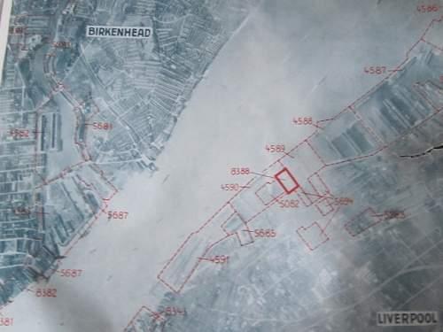 Luftwaffe Target map of Liverpool/Birkenhead.