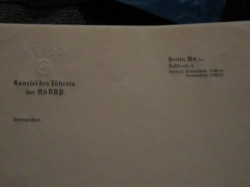 Reichskanzlei NSDAP Note Paper