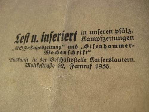 "Nazi Party Manual ""Deutschland Erwache!"": Authentic item? Ideas about worth?"