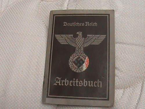 arbeitsbuch purchased in berlin