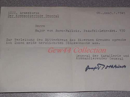 RK ticket of congratulation