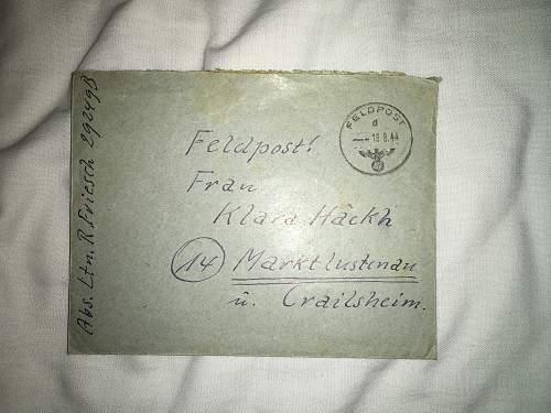 Friesch to Klara: 17th August 1944