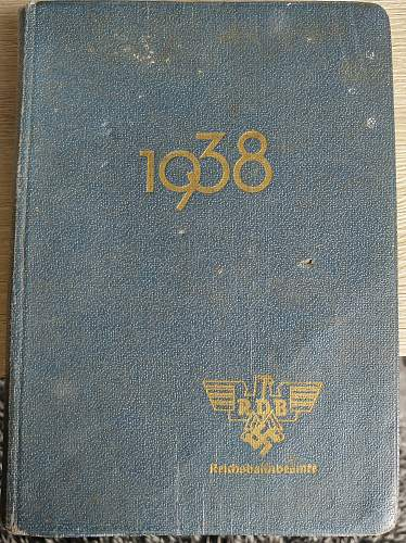 1938 RDB diary, assistance requested