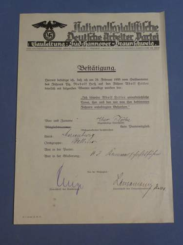 Is this a real NSDAP Doc?