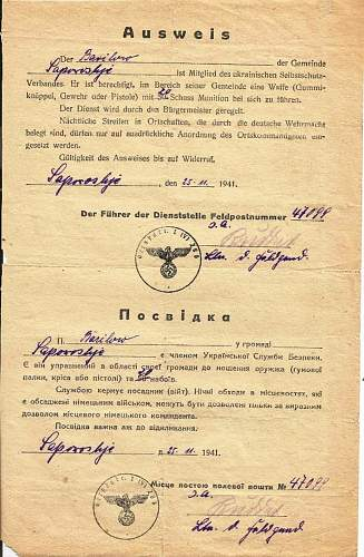 1941 ausweis - legit?