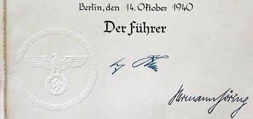 Signed hitler christmas card?