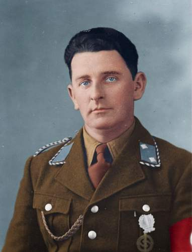 Colorization of Josef Kasinger during his service in the SA