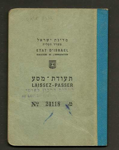 Entry to Germany-Israeli old passports