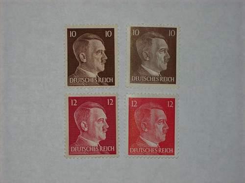 Similar Stamps, Same Set?