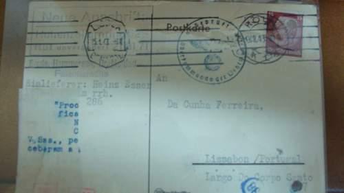 Deutsches payment postkarte