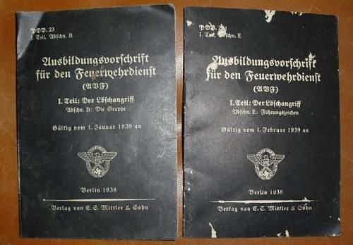 Two Vorschrift for the Feuerwehr