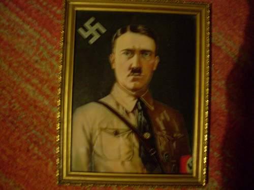 Early Reich Hitler wall Portrait.