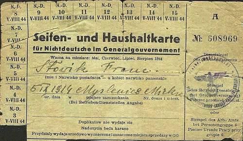 Nichtdeutscher ration ?