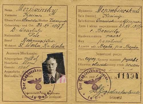 Ausweis 1942-Ukraine