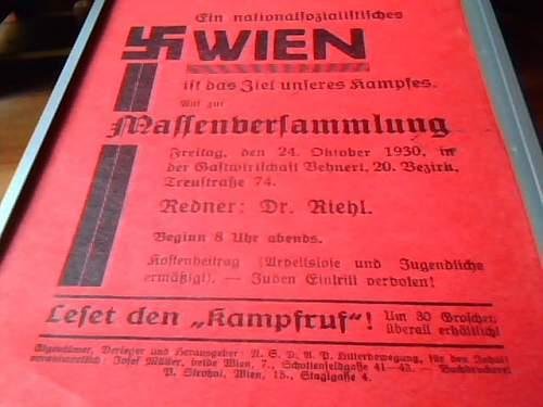 1930 Austrian Nazi Party Pamphlet