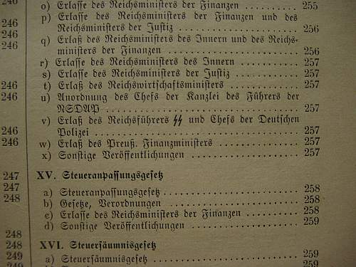Reichsteuerblatt: Tax Journal 1936 to 1940