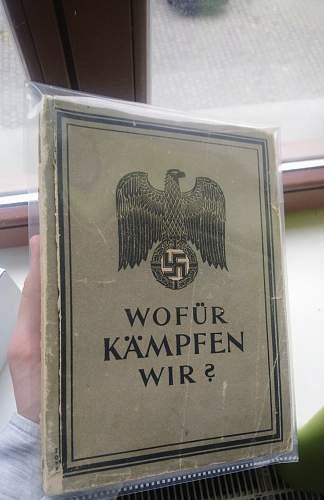 Wofür Kämpfen Wir - Officer's Book - Nazi Ideology