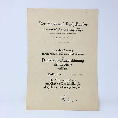 Documents/Signatures Himmler help