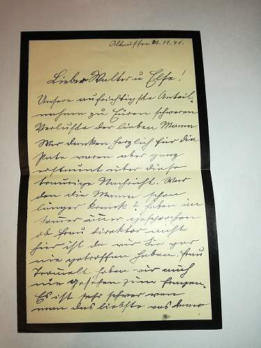 German ww2 soldier letter to translate