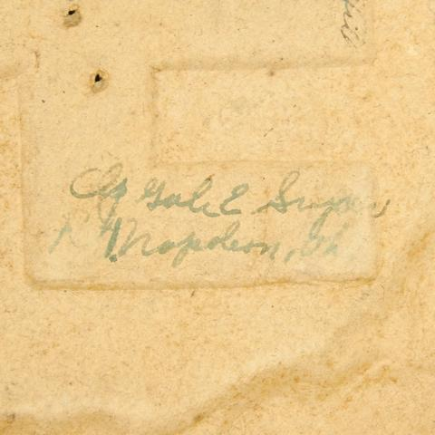 WWII German HQ Cardboard Eagle souvenir signed by 14th Tank Battalion