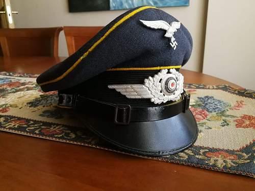 Luftwaffe visor with letters