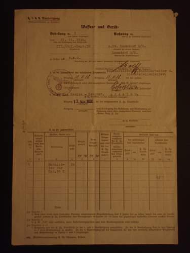 Order/requisition for Entnickler