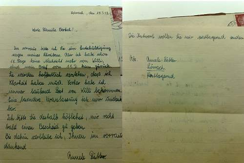 Saturno's German letters & postcards
