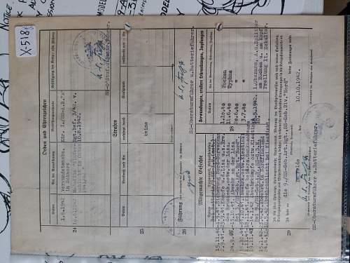 Waffen ss document