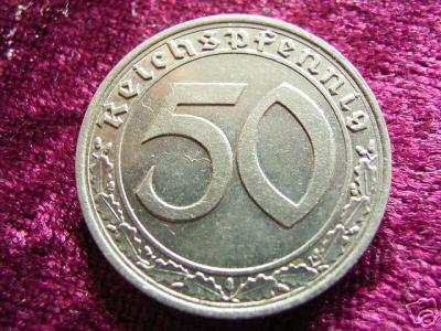 50 Reichspfennig coin
