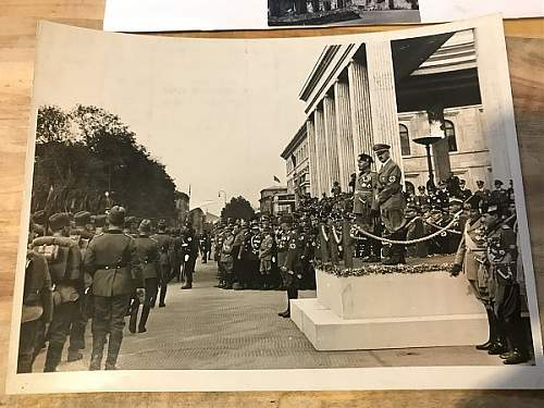 Lot of photos showing Adolf hitler , Mussolini , up for review
