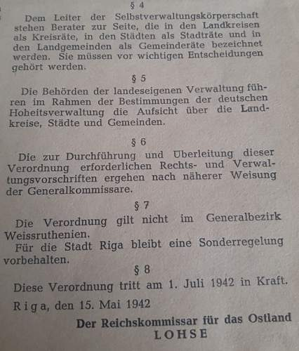 Reichskommissariat Ostland Poster