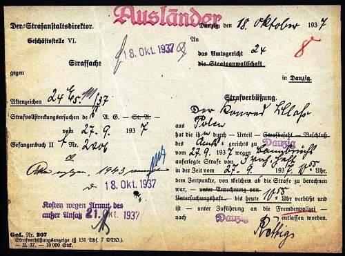 Danzig 1937 document