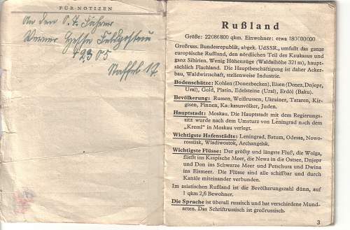 Soldiers German to Russian Translation Booklet