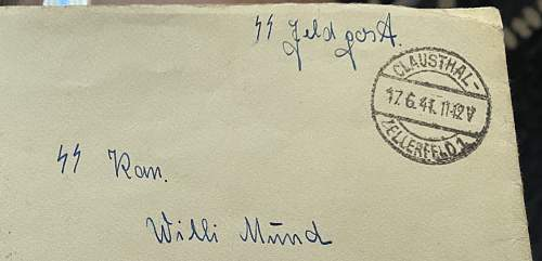 SS letter can anyone help? Read sender? Receiver? Letter contents? Note no inspection stamp because it was going to someone in service?