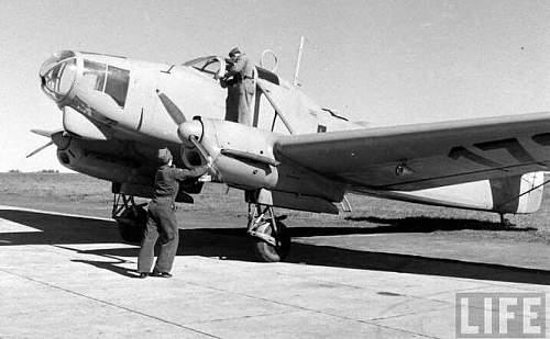 "Photo of Jagdgeschwader 5 aircraft with ""Eisbär"" shield"