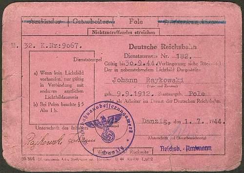 Deutsche Reichsbahn ausweis