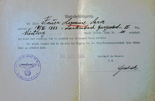 changing of German names 1938...