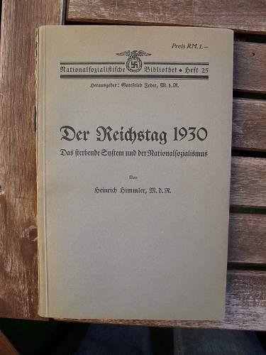 Book written by Heinrich Himmler
