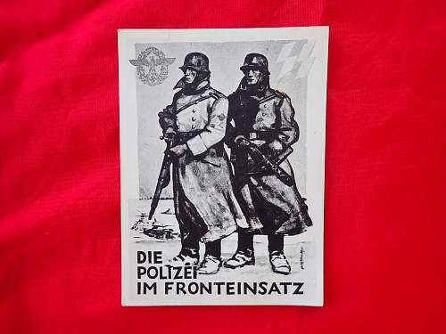 Polizei at the front postcard help please