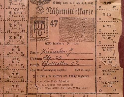 Rations & postal stamps