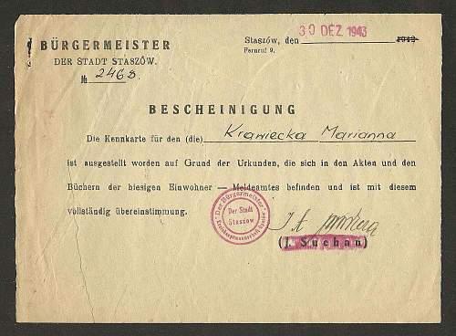 applying for a kennkarte-Poland