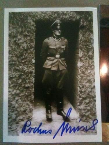 Rochus Misch Autograph