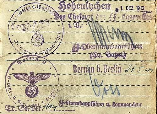 Identifying SS officers-signatures