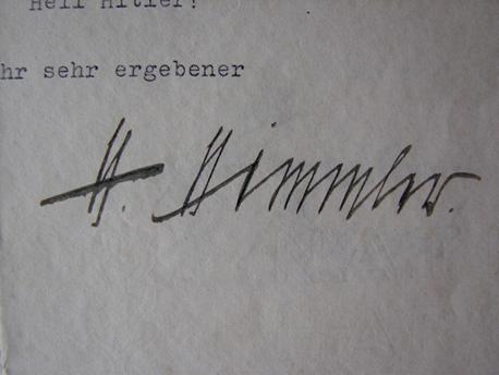 Himmler signed letter
