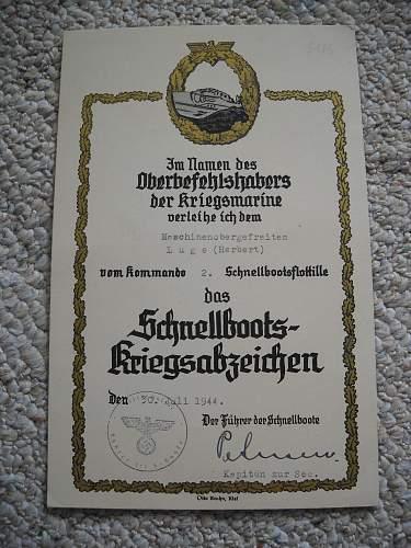 KM S-Boat document