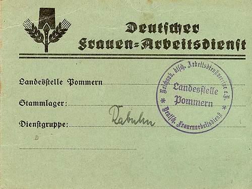 Rare and very early RADwJ Ausweis